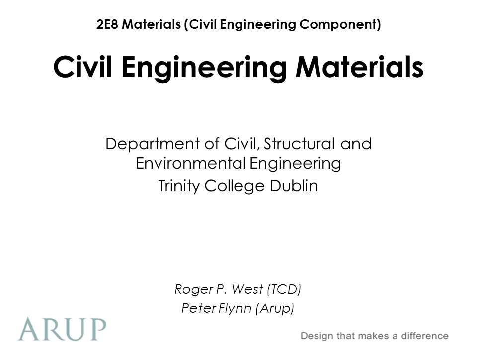 2E8 Materials (Civil Engineering Component) Section A.3 Hardened Concrete Properties 4.Cube/Cylinder Manufacture & Testing