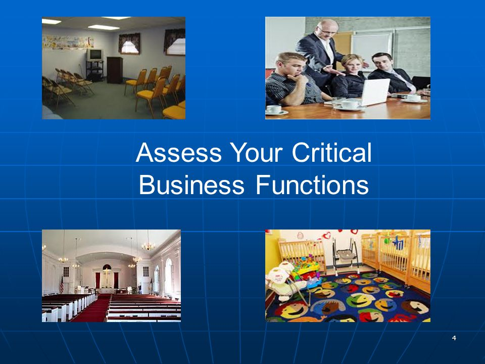 4 Assess Your Critical Business Functions