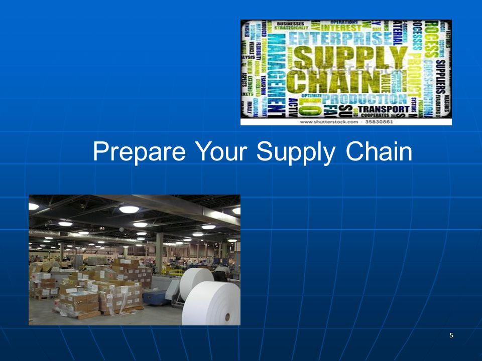 5 Prepare Your Supply Chain