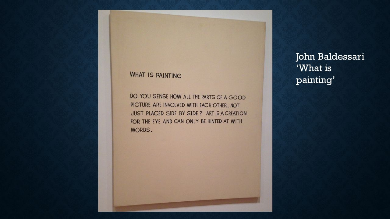 John Baldessari 'What is painting'