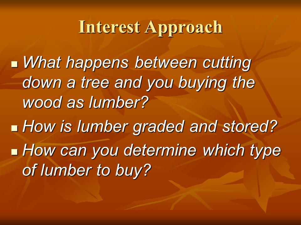 Properties of Wood Good understanding of wood properties is essential for intelligent lumber selection.