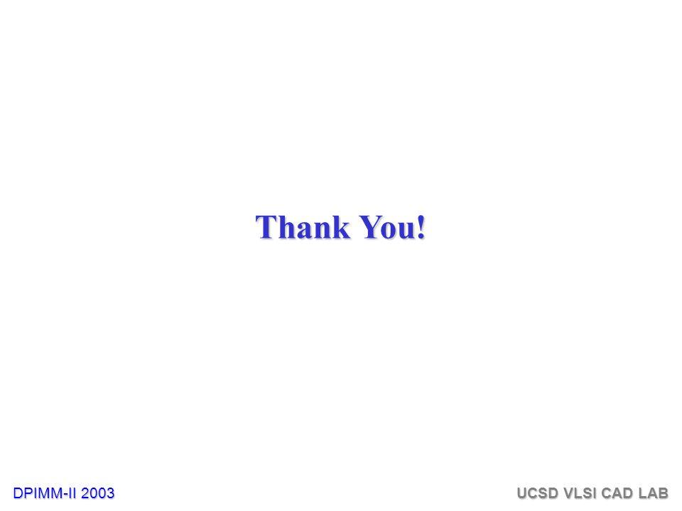 DPIMM-II 2003 UCSD VLSI CAD LAB Thank You!
