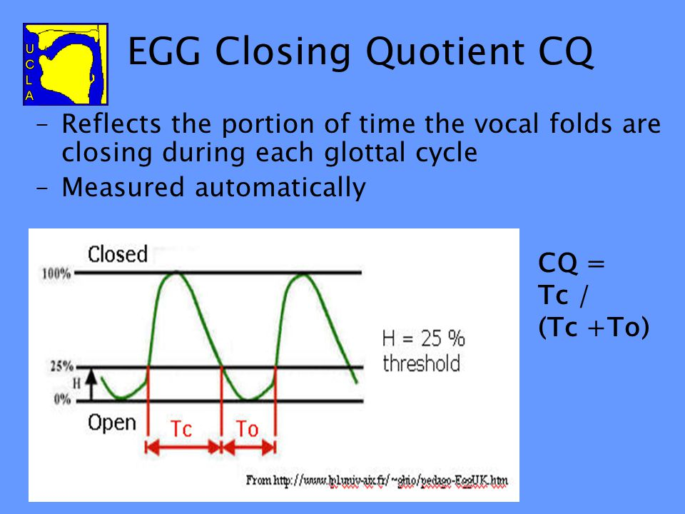 Compare with EGG Are the speakers really producing the contrasts differently as suggested by the acoustic measures? Electroglottograph recordings usin