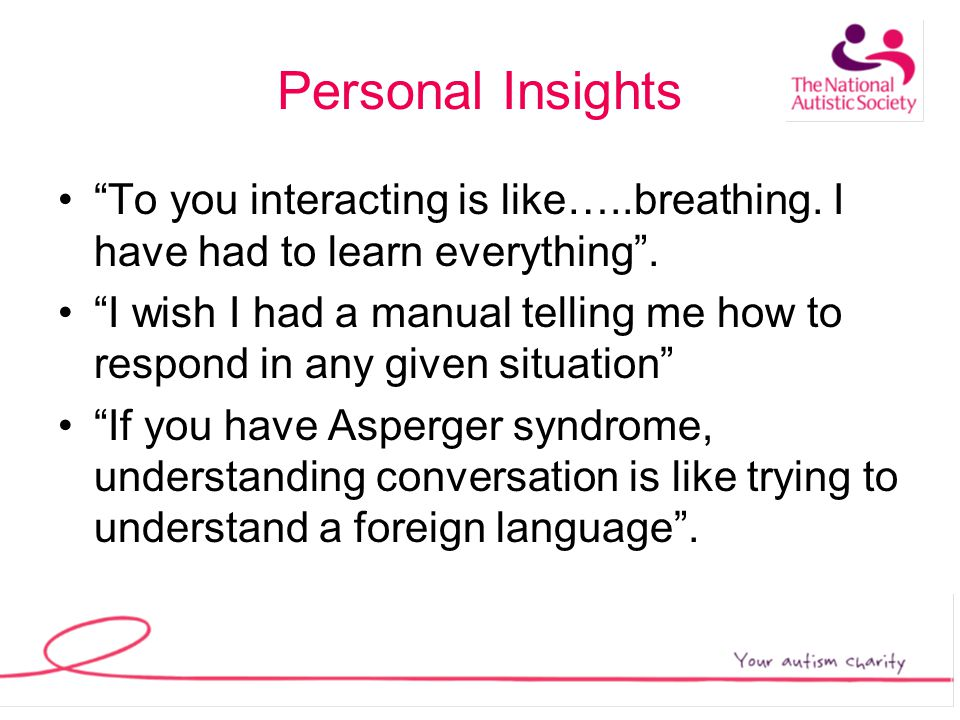 Personal Insights To you interacting is like…..breathing.
