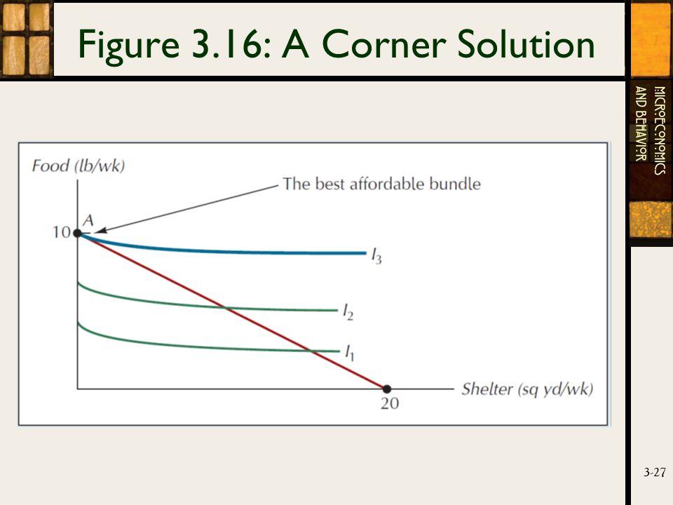 3-27 Figure 3.16: A Corner Solution