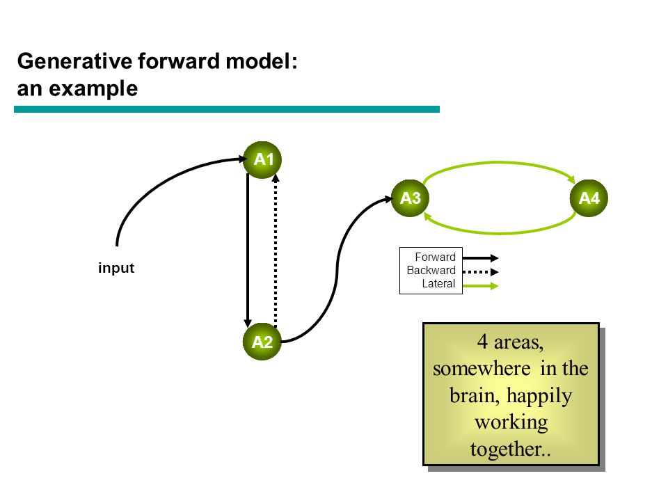 Modulation of extrinsic connectivity A1 A2 A4 Forward Backward Lateral A3 Increase in backward connection A2->A1 Increase in backward connection A2->A1 modulation input