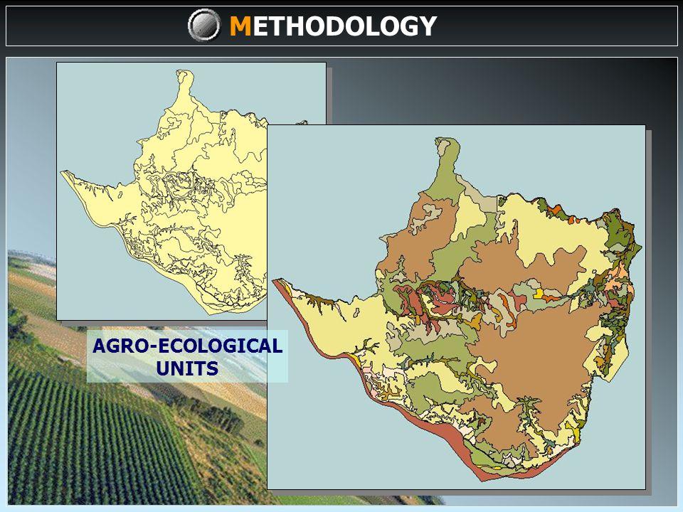 DATA/MAPS (I) DATA/MAP INPUT COMPILATION, SELECTION & GENERATION OF ADDITIONAL DATA BIO-PHYSICAL VARIABLES AGRO-ECOLOGICAL UNITS AGRO-ECOLOGICAL ZONING DIGITALIZATION (II) METHODOLOGY