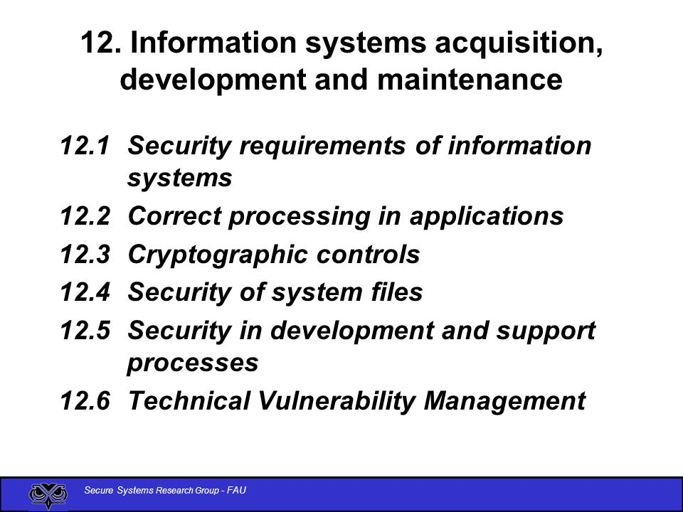 Secure Systems Research Group - FAU 12.