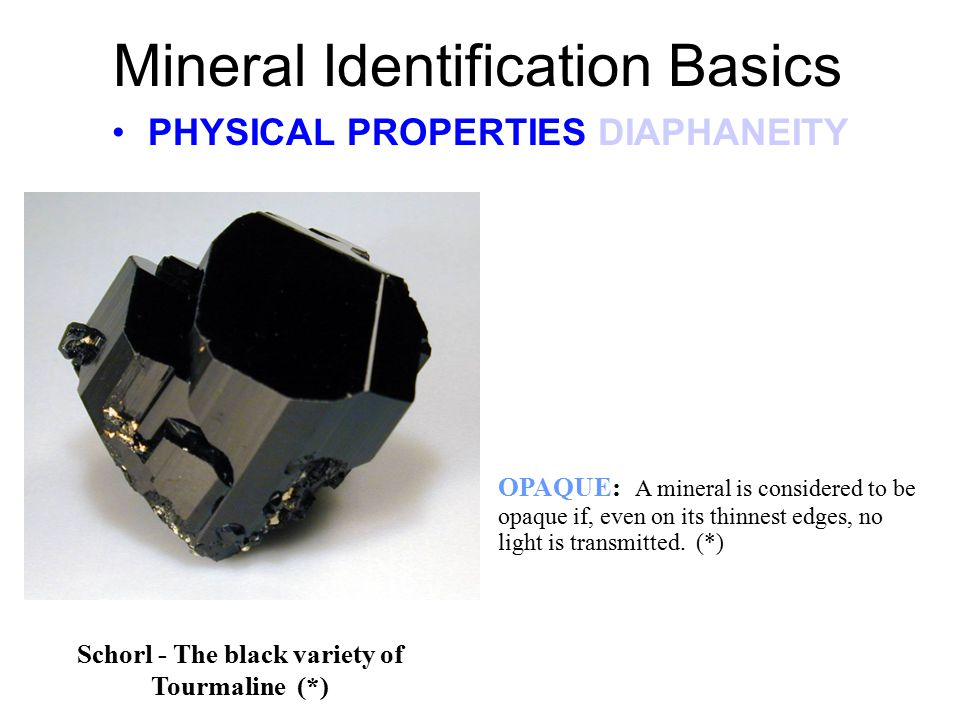 Mineral Identification Basics MONOCLINIC CRYSTALS MONOCLINIC In this crystal form the axes are of unequal length.