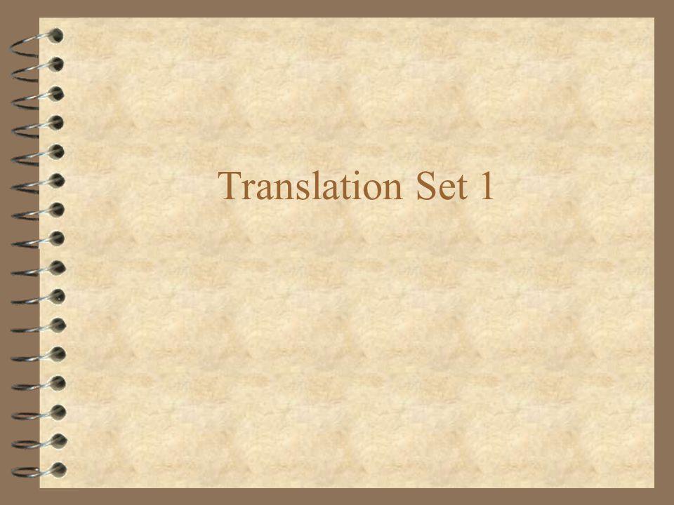 Translation Set 1