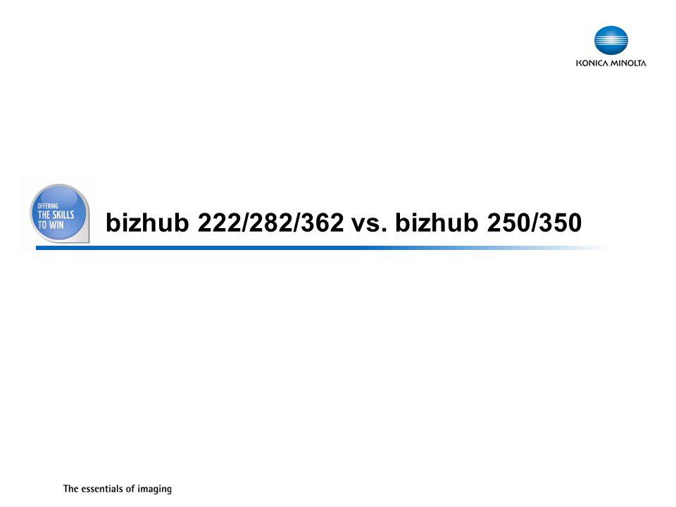 34 bizhub 222/282/362 vs. bizhub 250/350