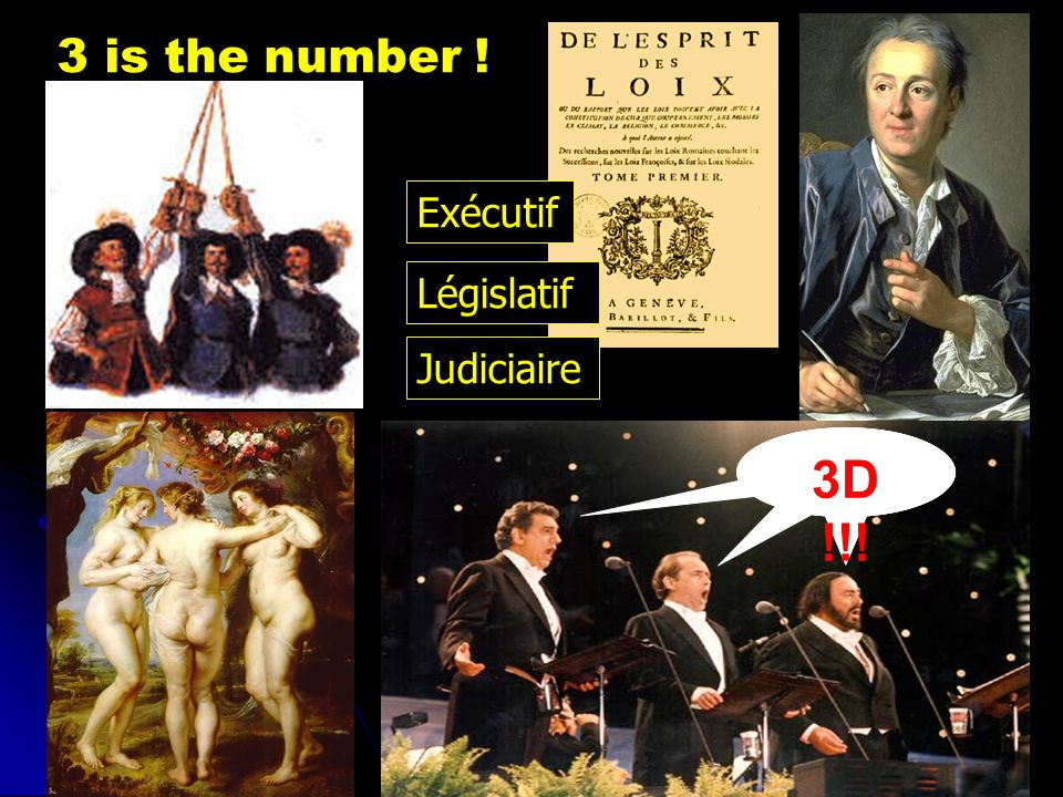 3 is the number ! Exécutif Législatif Judiciaire 3D !!!
