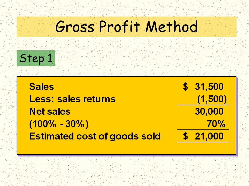 Step 1 Gross Profit Method