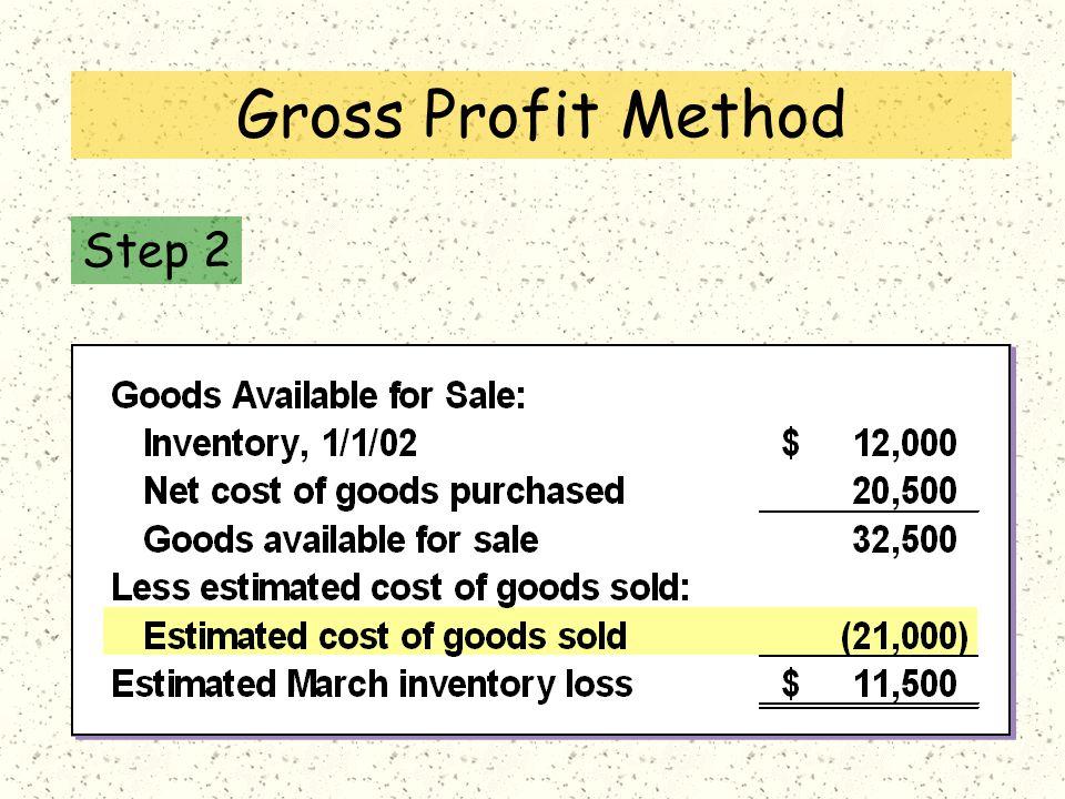 Step 2 Gross Profit Method