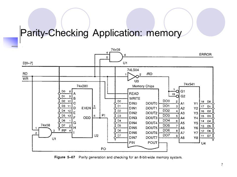 7 Parity-Checking Application: memory