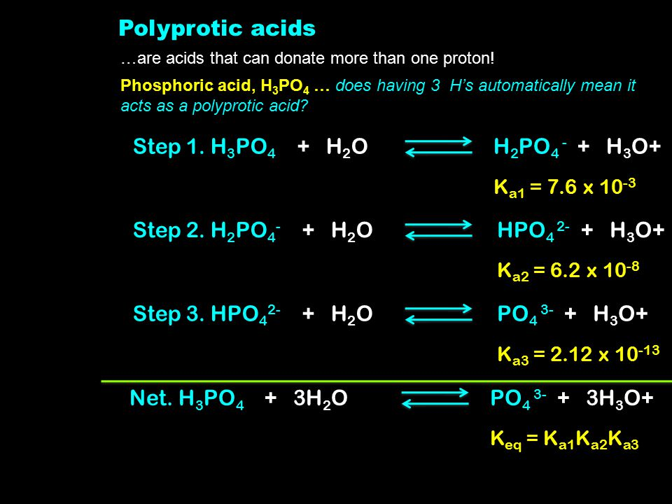 Polyprotic acids …are acids that can donate more than one proton.