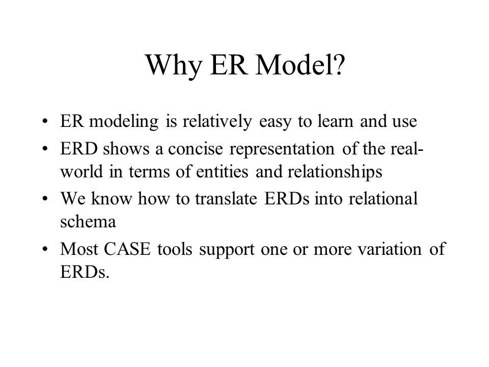 Why ER Model.