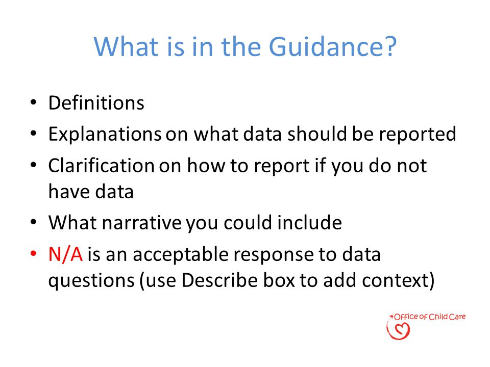 What is in the Guidance.