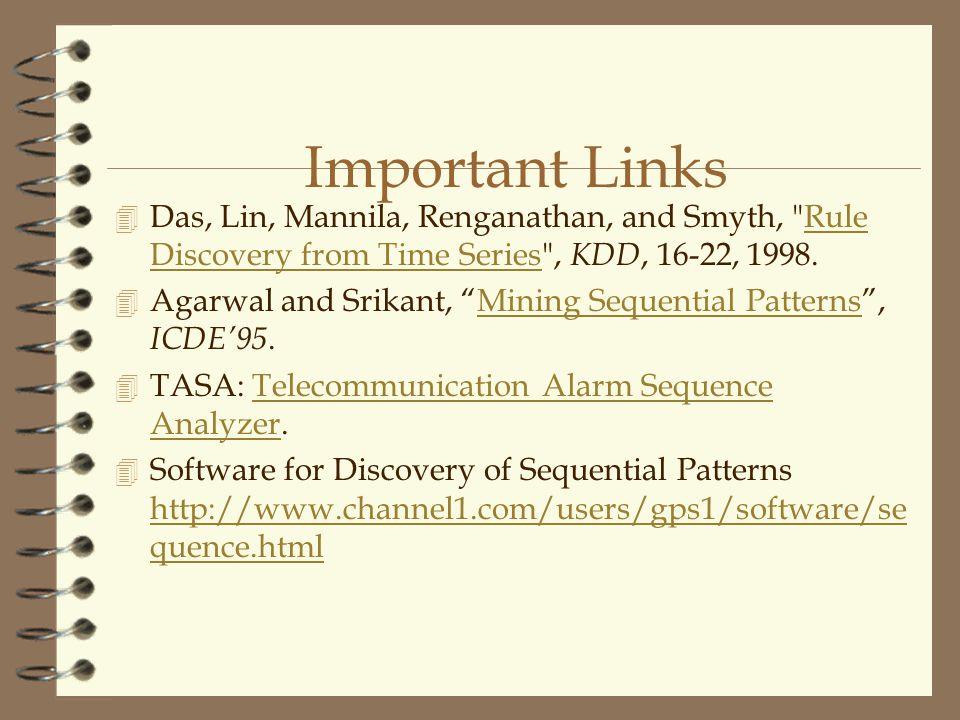 Important Links 4 Das, Lin, Mannila, Renganathan, and Smyth,