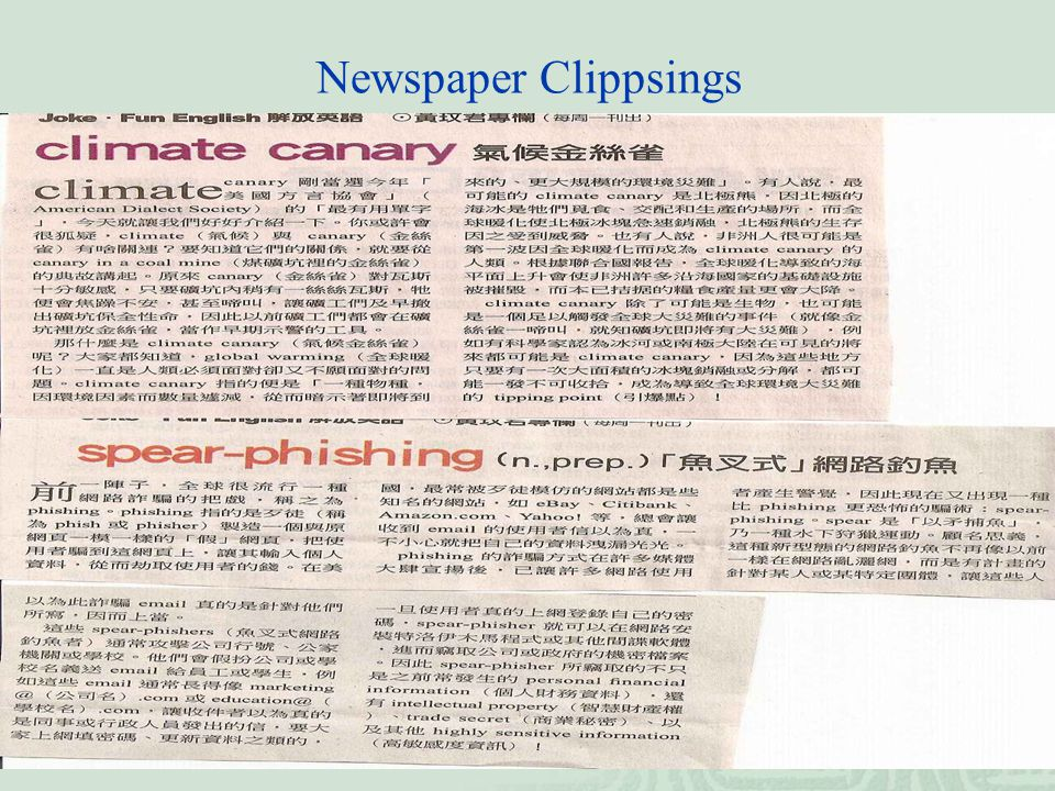 Newspaper Clippsings
