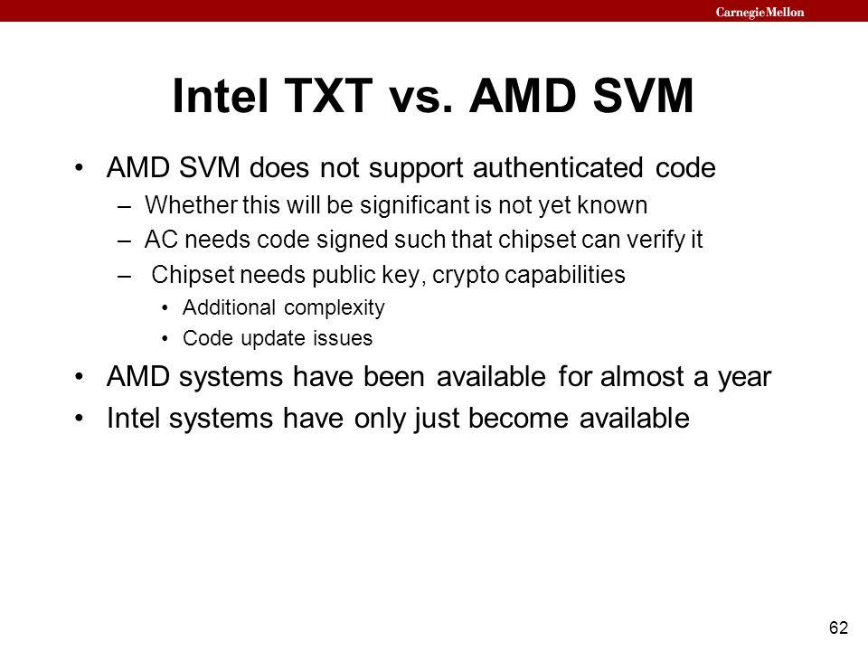 62 Intel TXT vs.