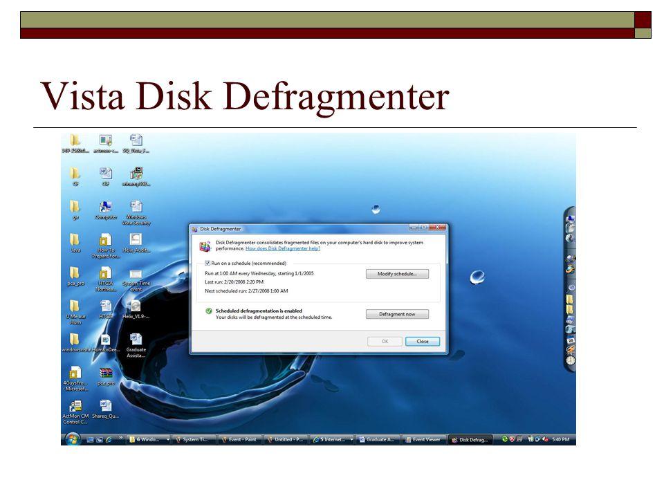 Vista Disk Defragmenter