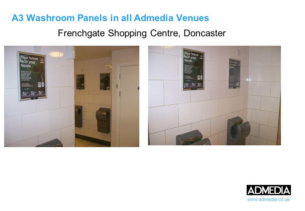 www.admedia.co.uk A3 Washroom Panels in all Admedia Venues Grantham MSA