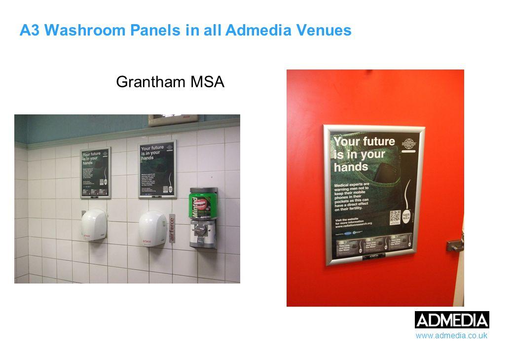 www.admedia.co.uk A3 Washroom Panels in all Admedia Venues Top Notch Fitness Club, Brentford