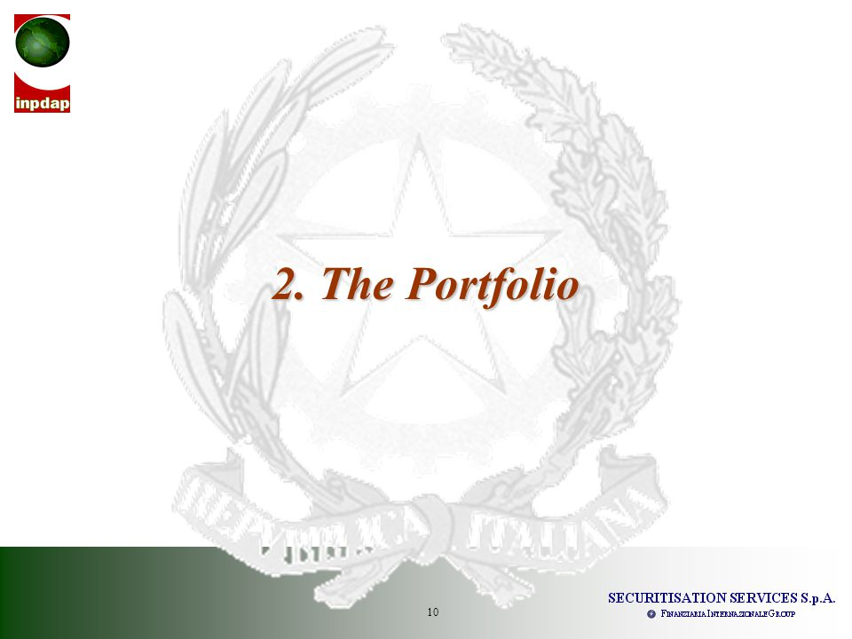 10 2. The Portfolio