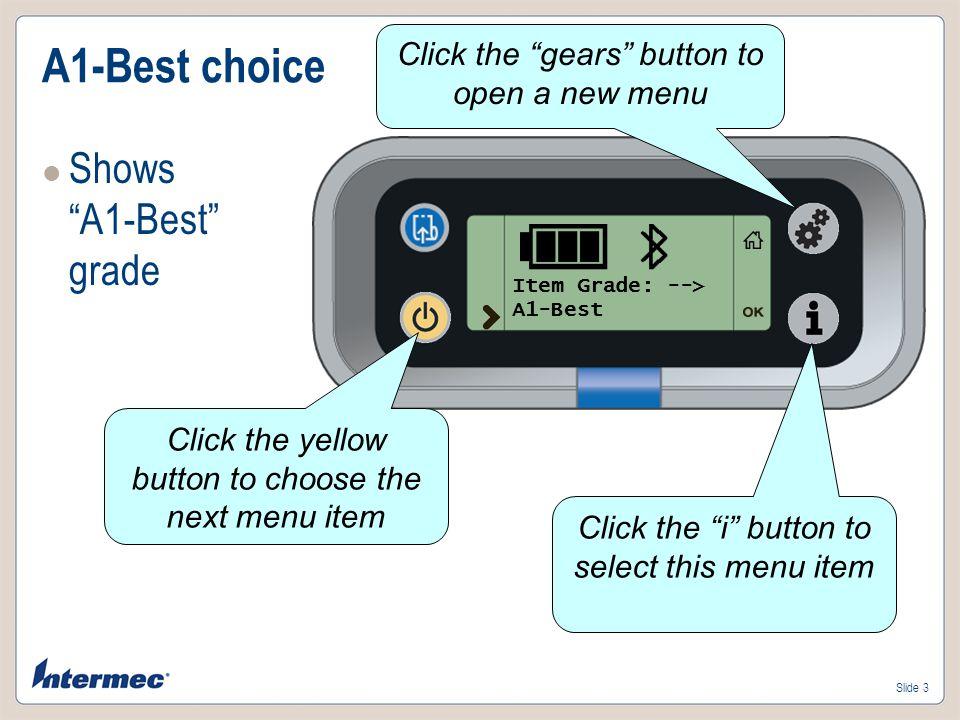 Slide 4 A2-Good choice Shows A2-Good grade Item Grade: --> A2-Good
