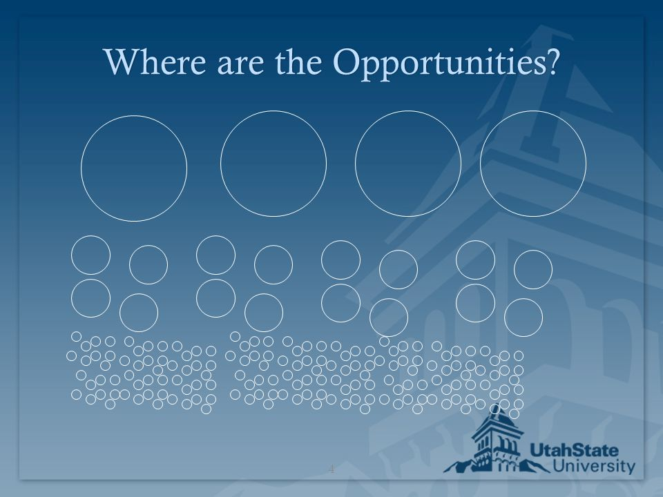 Where are the Opportunities?Where are the Opportunities? 4