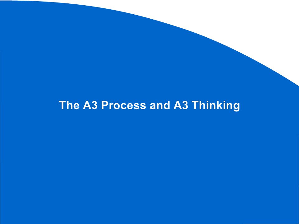 The source for much of this is material is from: Understanding A3 Thinking Durward K.