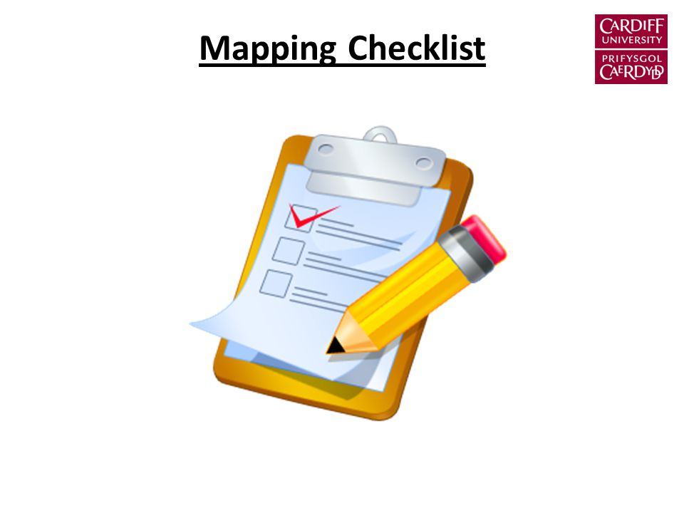 Mapping Checklist