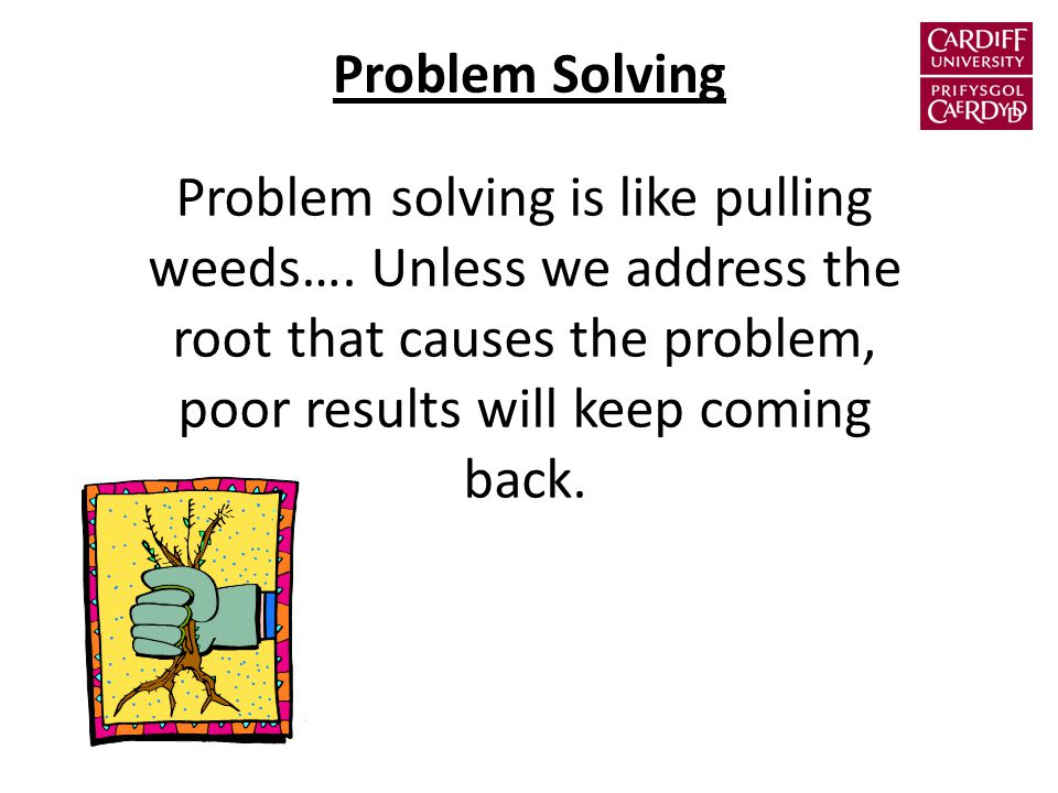 Problem Solving Problem solving is like pulling weeds….