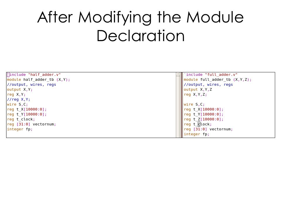 After Modifying the Module Declaration