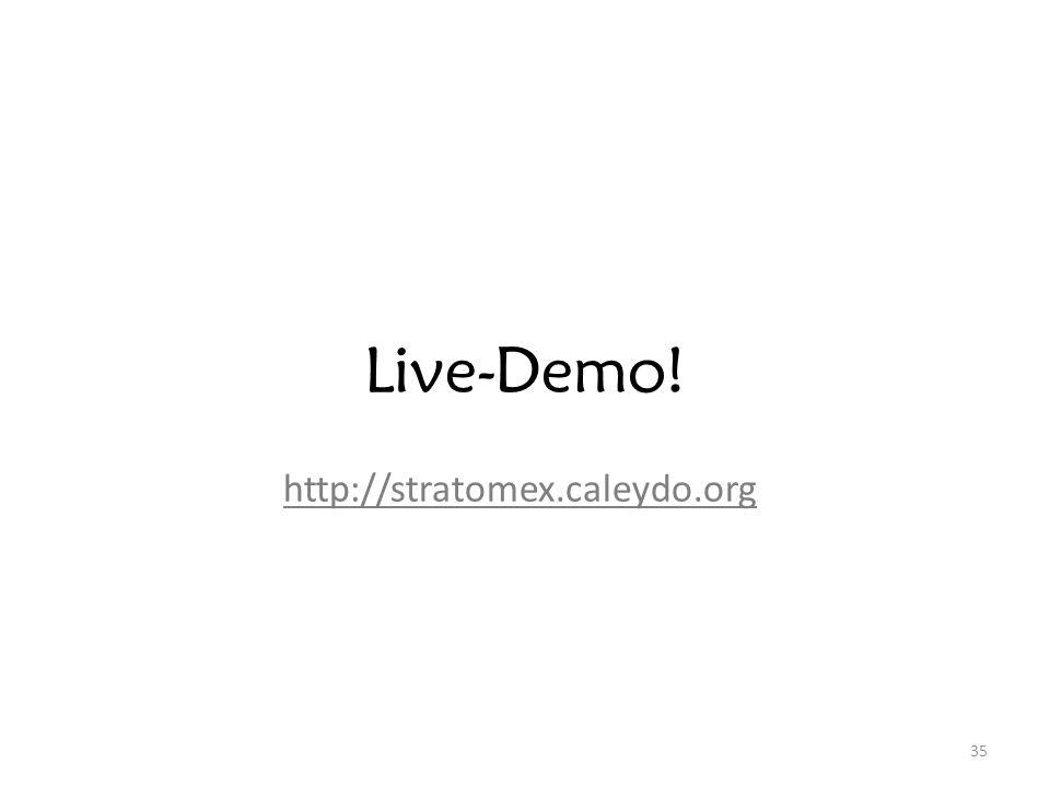 35 Live-Demo! http://stratomex.caleydo.org