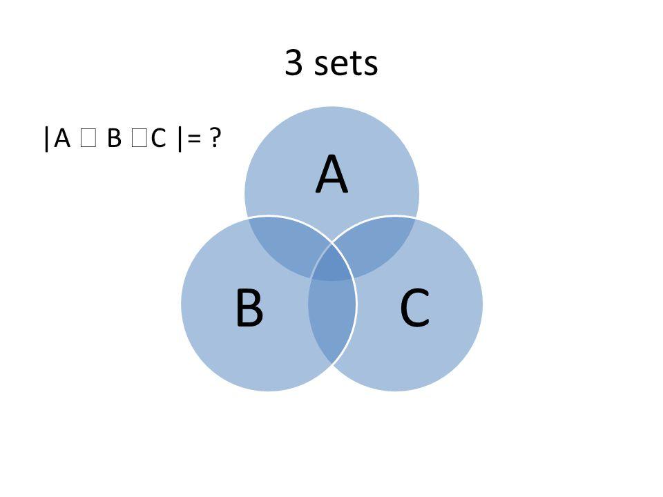 Proof for 3 sets |A1  A2  A3| =∑|Ai| - ∑|Ai ∩ Aj| + |A1∩ A2 ∩ A3| =∑|Ai| =∑|Ai| - ∑|Ai ∩ Aj| A1 A3A2 A1 A3A2