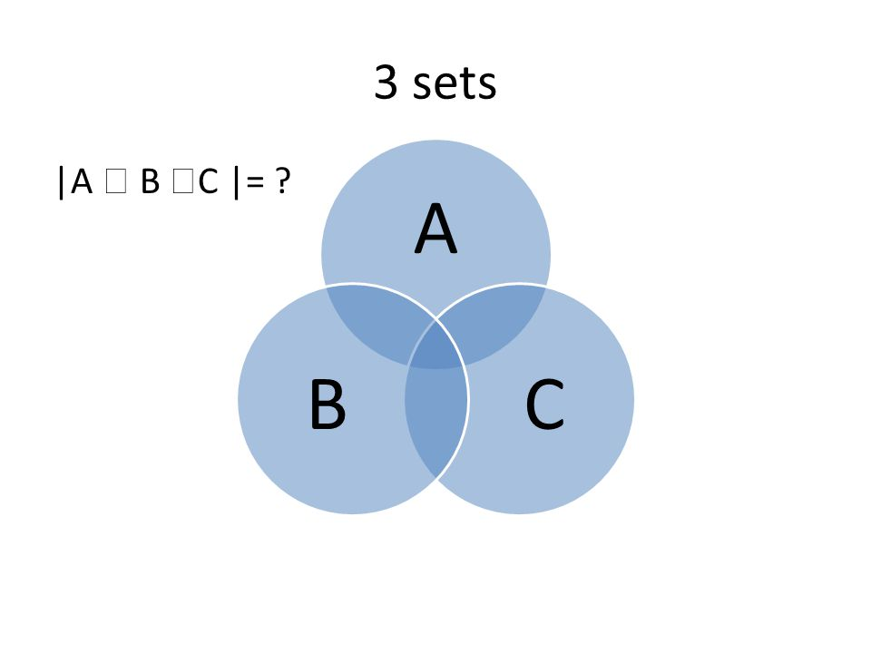 3 sets |A  B  C |= ? A CB