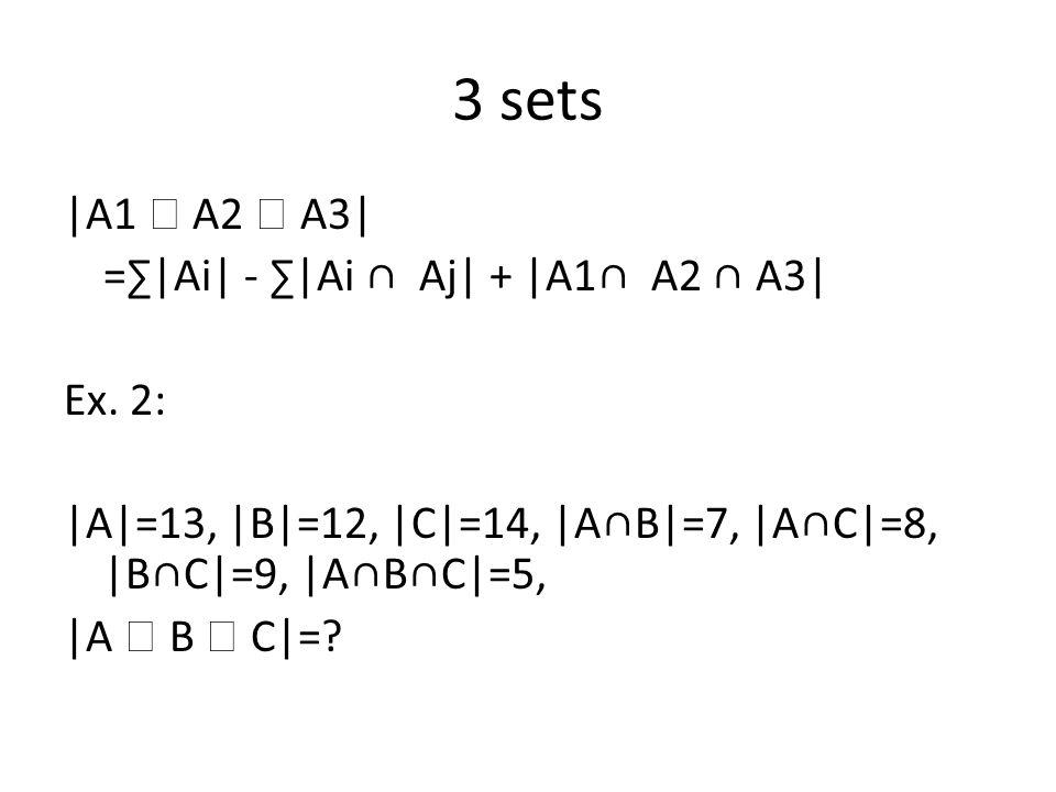|A1  A2  A3  A4| =∑|Ai| - ∑|Ai ∩ Aj| + ∑ |Ai∩ Aj ∩ Ak| - |A1∩ A2 ∩ A3∩ A4|