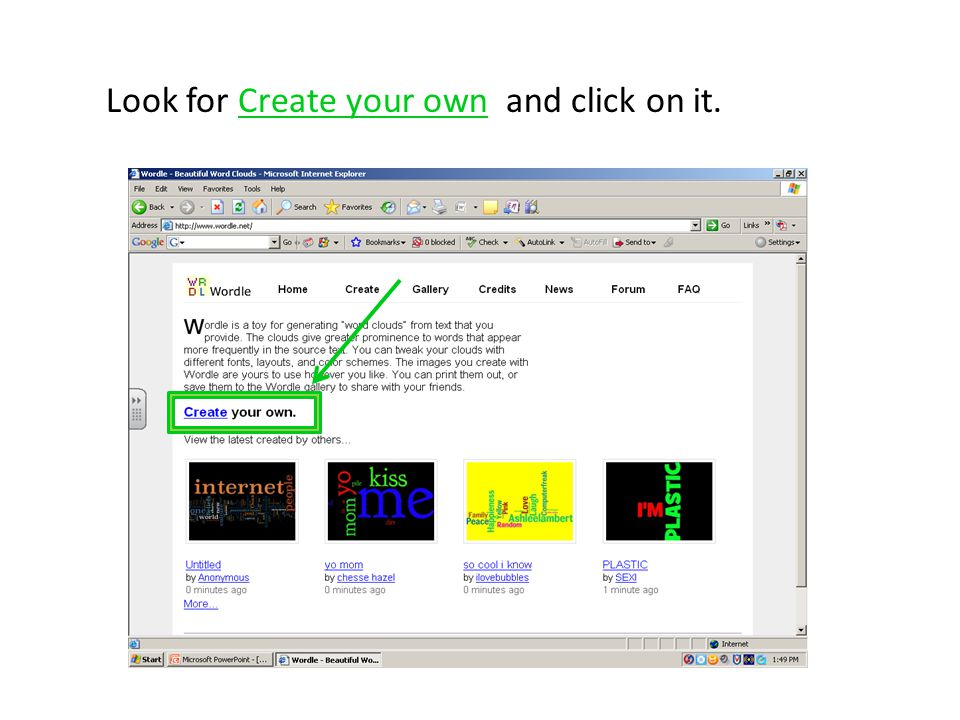 To make your wordle into a poster click on the button that says Change Page Size on the left side