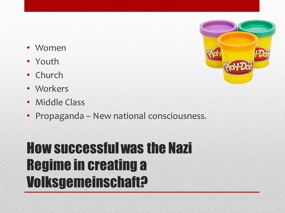 How successful was the Nazi Regime in creating a Volksgemeinschaft.