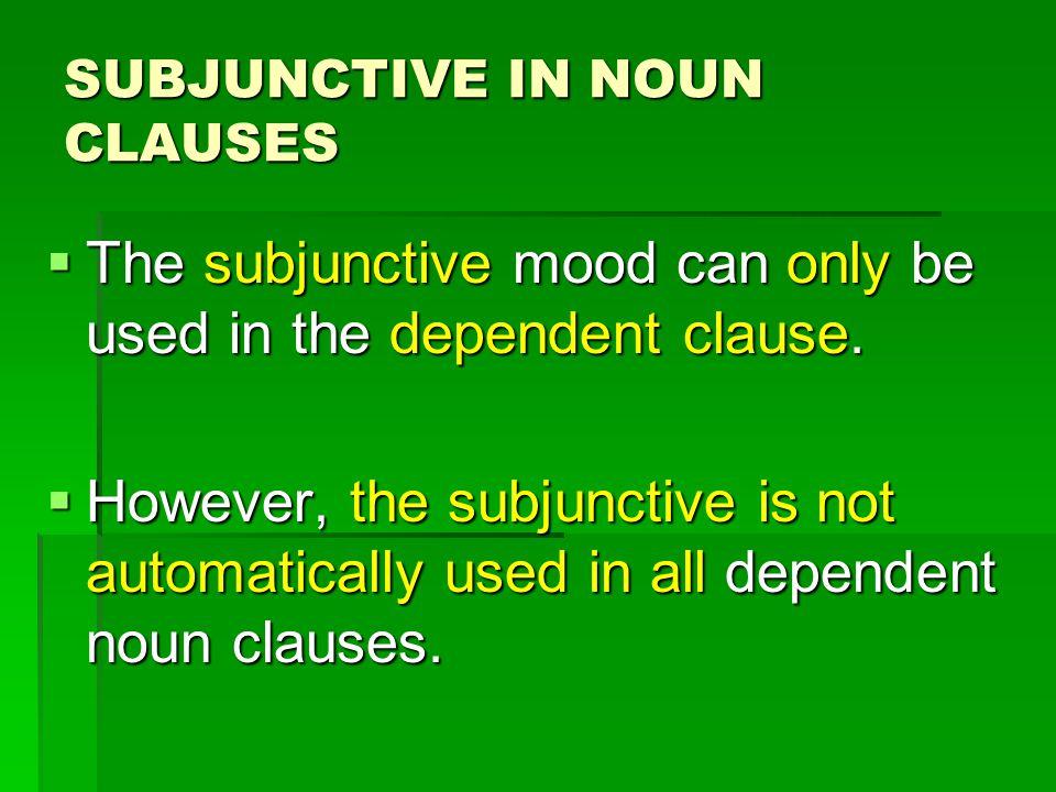  Uds.quieren ser saludables. Independent clause Subject = Uds.