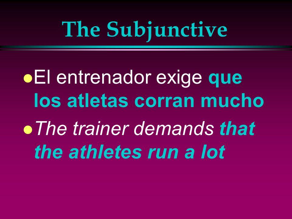 The Subjunctive l Sugiero que bebas agua antes de correr.