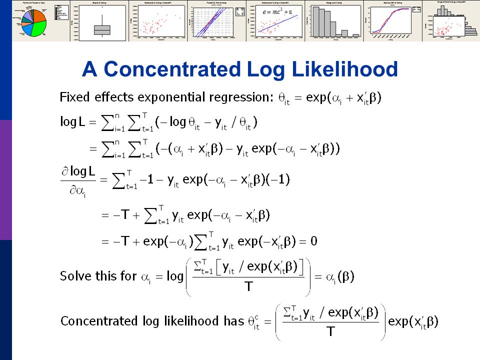 A Concentrated Log Likelihood