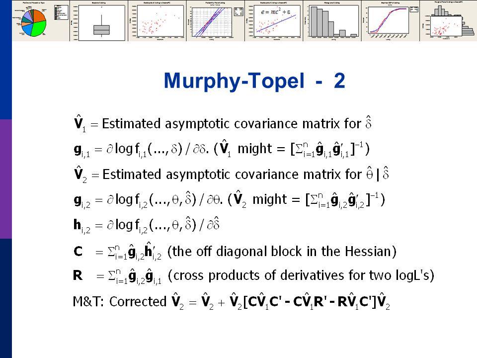 Murphy-Topel - 2