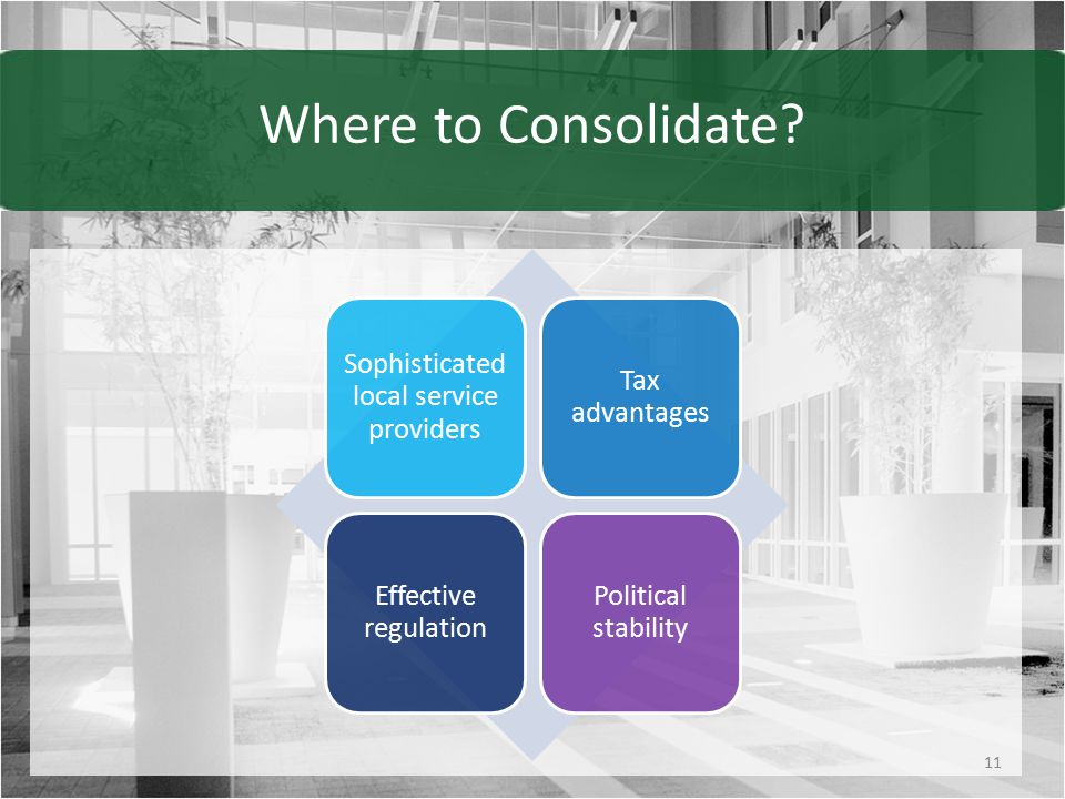 Where to Consolidate.