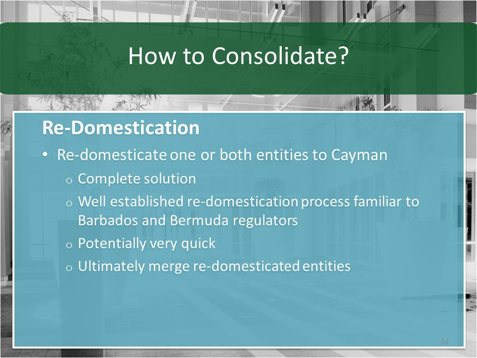 How to Consolidate.