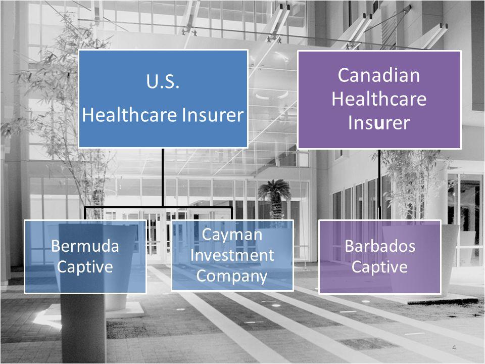 U.S. Healthcare Insurer Bermuda Captive Cayman Investment Company Canadian Healthcare Insurer Barbados Captive 4