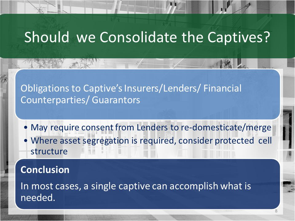 Client Considerations 9 Regulator Sophistication Ability to fully understand captive operations and risks Regulator Responsiveness Adequate staffing to ensure timely response Regulatory Clarity & Stability Clear regulations that are not frequently changed Adaptability of Captive Operations Ease of business plan changes and additions Reputation of Domicile
