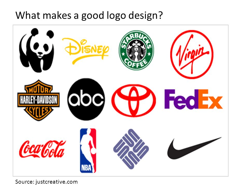 What makes a good logo design Source: justcreative.com